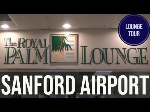 Royal Palm Lounge Tour At Sanford International Airport Florida