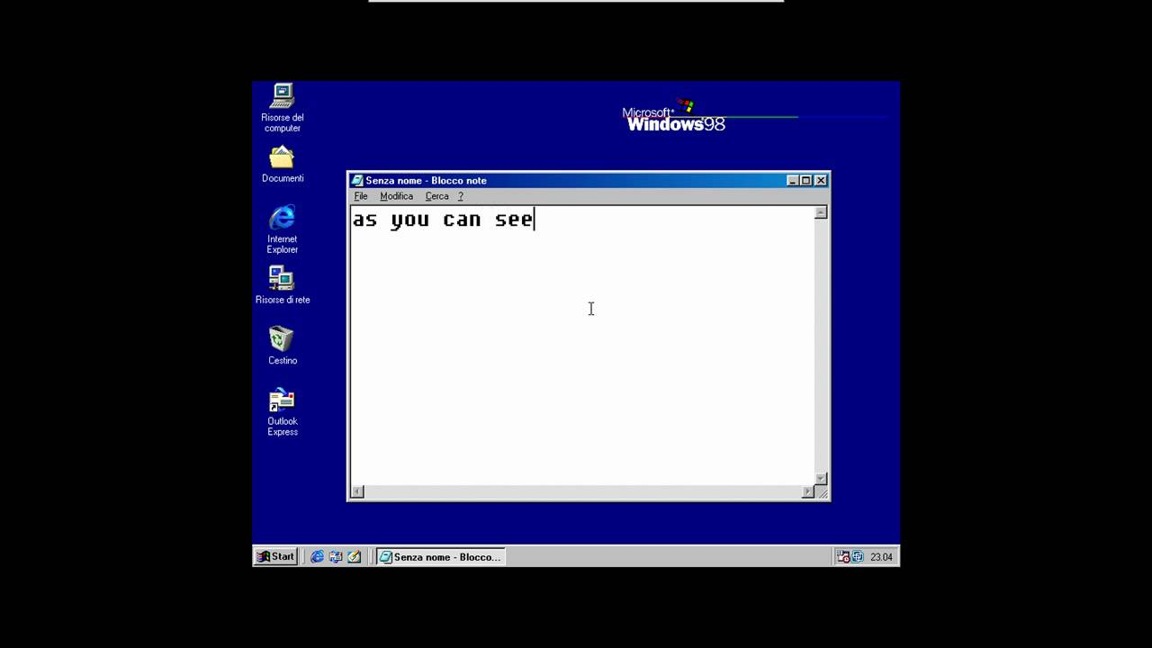 windows 98 machine