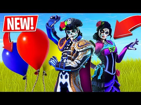*NEW* Fortnite Balloons Gameplay + Glow In The Dark Skins!! (Fortnite LIVE Gameplay)