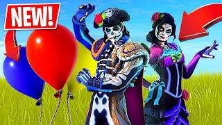 *NEW* Fortnite Balloons Gameplay + Glow in the Dark Skins!! (Fortnite LIVE Gameplay)
