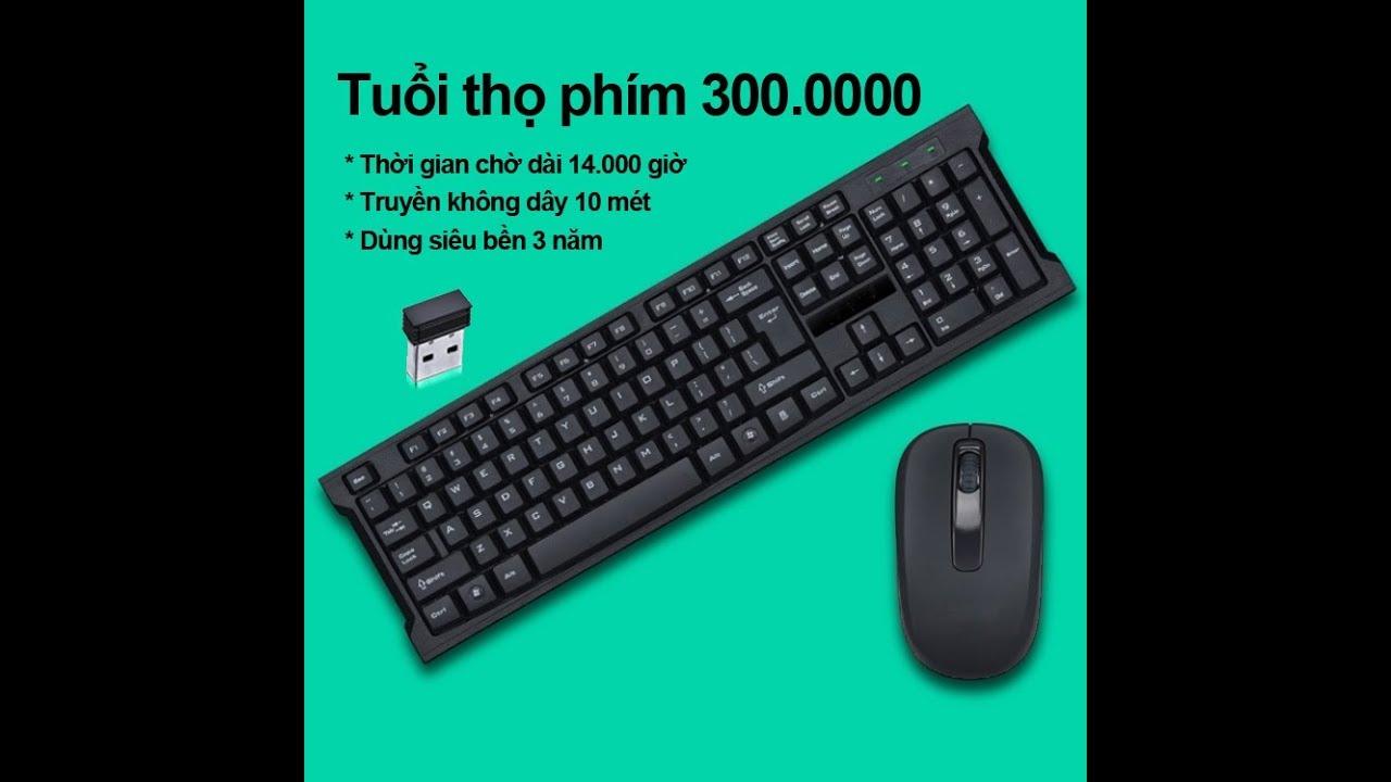 Bộ bàn phím chuột không dây văn phòng giúp giảm thiểu tiếng ồn khi gõ ILEPO M6