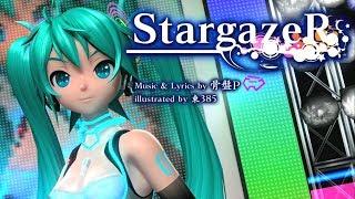[60fps] StargazeR スターゲイザー - Hatsune Miku 初音ミク Project DIVA English Romaji lyrics ドリーミーシアター