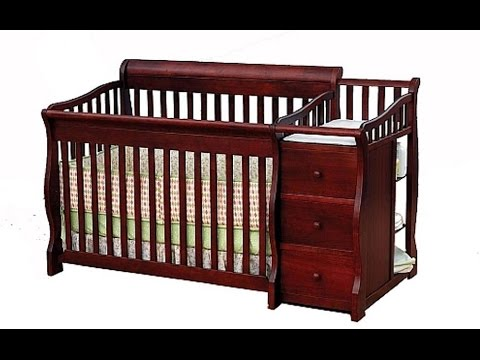 Sorelle Princeton 4-in-1 Convertible Crib with Changer And Friendly Fox Bedding