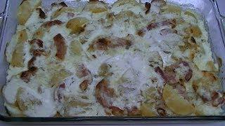Картофель, запечённый с Беконом и Сыром