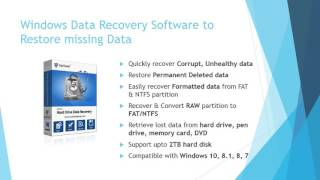 Windows Data Recovery Software to Recover Deleted, Formatted Data