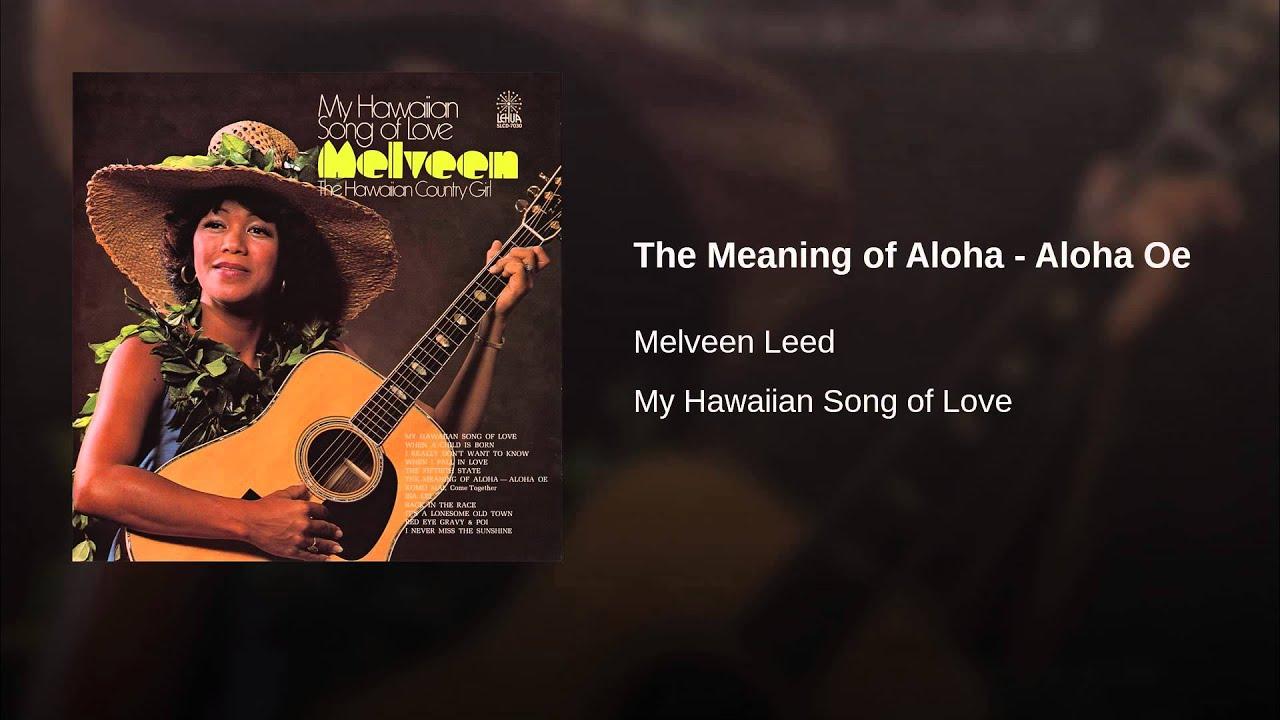 Aloha au ia oe meaning