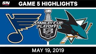 Jaden Schwartz scored a hat trick and the St. Louis Blues defeated the San Jose Sharks in Game 5 to take a 3-2 series lead.