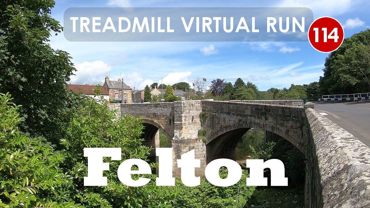 Treadmill Virtual Run 114: Felton, Northumberland, UK - YouTube