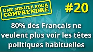 Une minute pour comprendre #20 - 80% des Français ne veulent plus voir les policitiens habituels