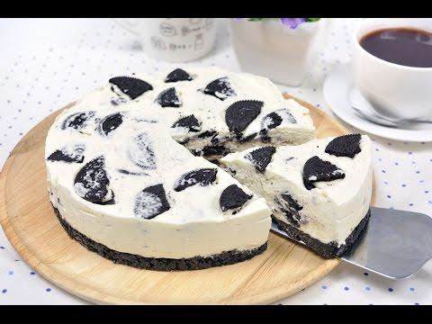 โอรีโอชีสเค้กแบบไม่อบ Oreo Cheese Cake (No Bake)