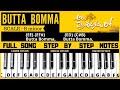 Butta Bomma song keyboard notes | piano notes | full song tutorial | Ala vaikunthapurramlo movie