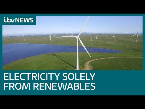 Energy company announces it will be first to generate electricity from renewables | ITV News