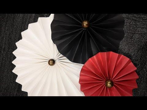 Making of Paper Rossetes I Diy Paper Fan I Easy Home Diys