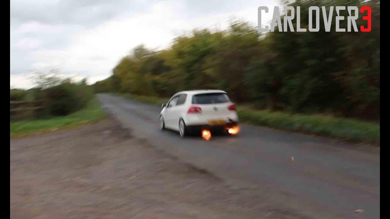 440bhp vw mk5 golf gti ko4 turbo big flames mk7 gti exhaust youtube