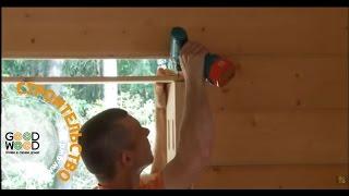 видео Установка пластиковых окон и дверей в деревянном доме