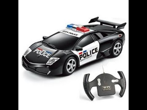 Lamborghini Police Car Toy For Children Toy Police Cars Youtube