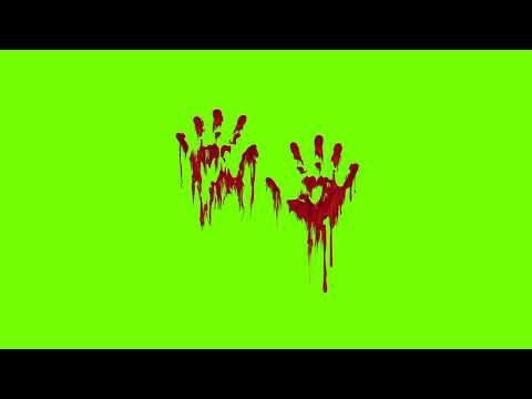 Blood hands Green Screen Video with out any Text (HD)