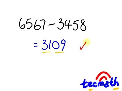 Subtraction Trick - avoid the borrowing!  Easy maths lesson.