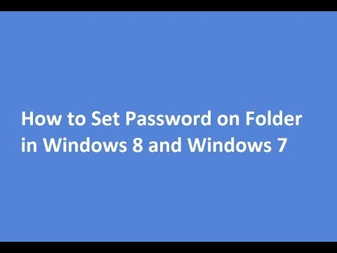 Is it possible to put a password on a folder in Windows 7?