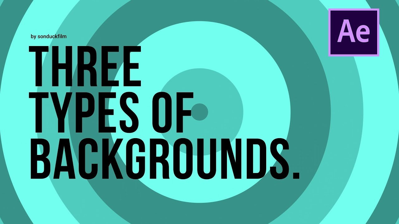 3 Types of Animated Backgrounds | After Effects Motion Graphics Tutorial