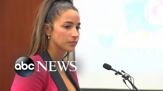 Two-time Olympian Aly Raisman speaks at sentencing for ex-USA Gymnastics doctor
