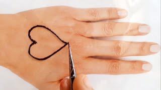 Love ❤ Mehndi design   Tutorial Henna   Beautiful Heart Henna design