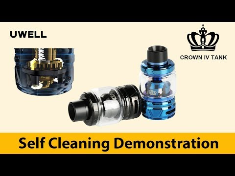 UWELL - Crown IV Tank - Self Cleaning Demo - How to