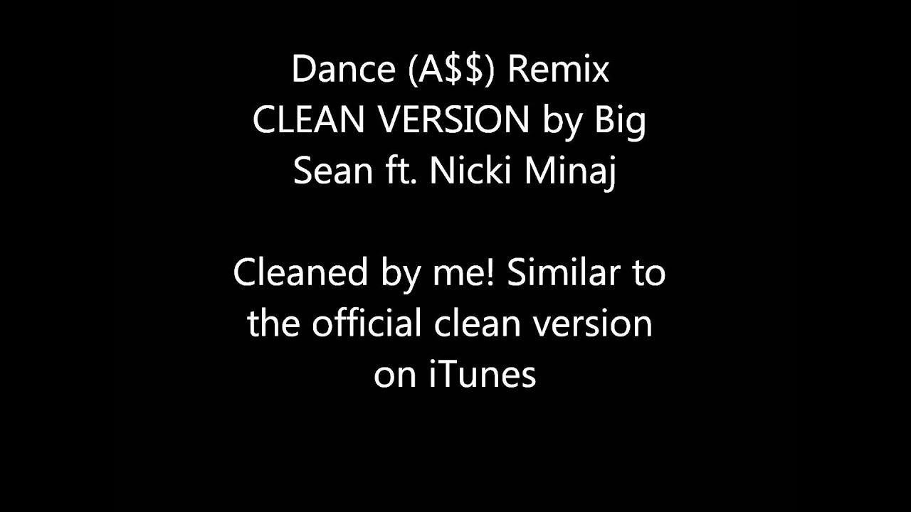 dance a$$ big sean ft nicki minaj lyrics