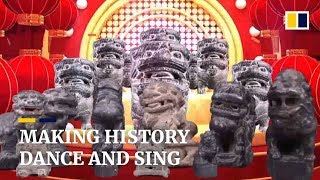 Chinese museum relics 'sing and dance' for Chinese New Year celebration
