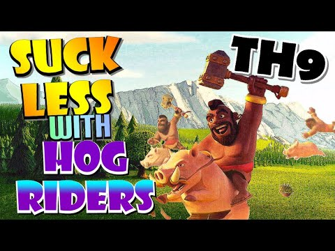 How To Use TH9 Hog Rider Attack Strategy - Best TH9 War Attack Strategies In Clash Of Clans