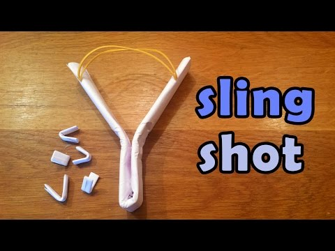 How To Make a Simple Strong Paper Slingshot - Paper Ninja Weapons