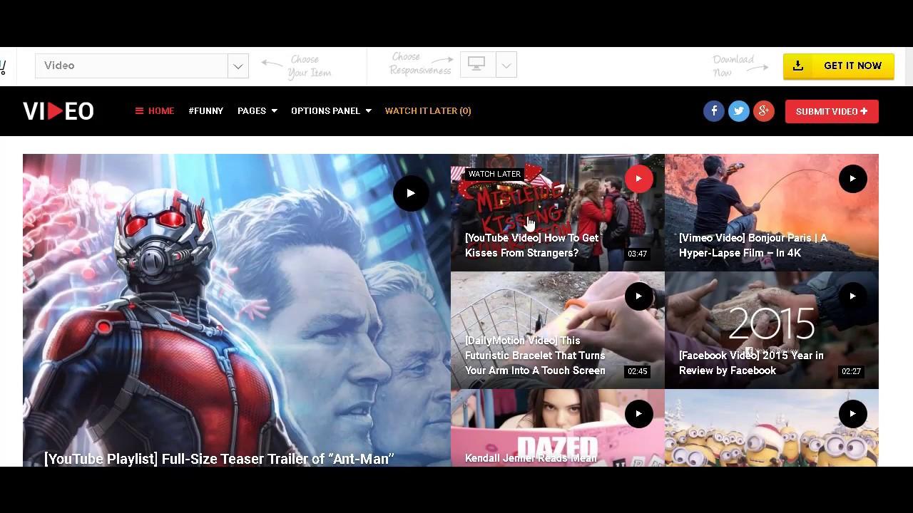 MTS Video Theme Wordpress - La mejor plantilla para videos de youtube