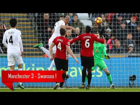 Download Manchester United vs Swansea City 3 - 1 - All Goals Highlights - 06/11/2016 HD
