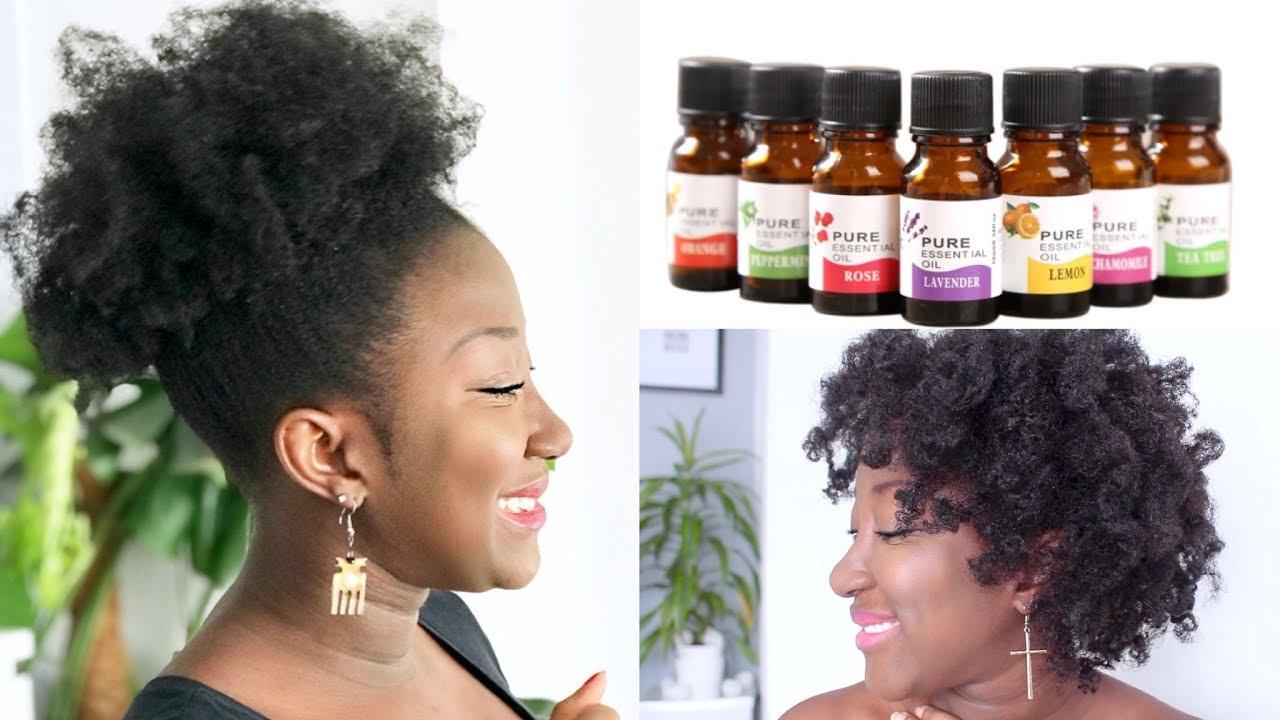 Top 5 Essential Oils For Hair Growth Thin Fine Natural Hair