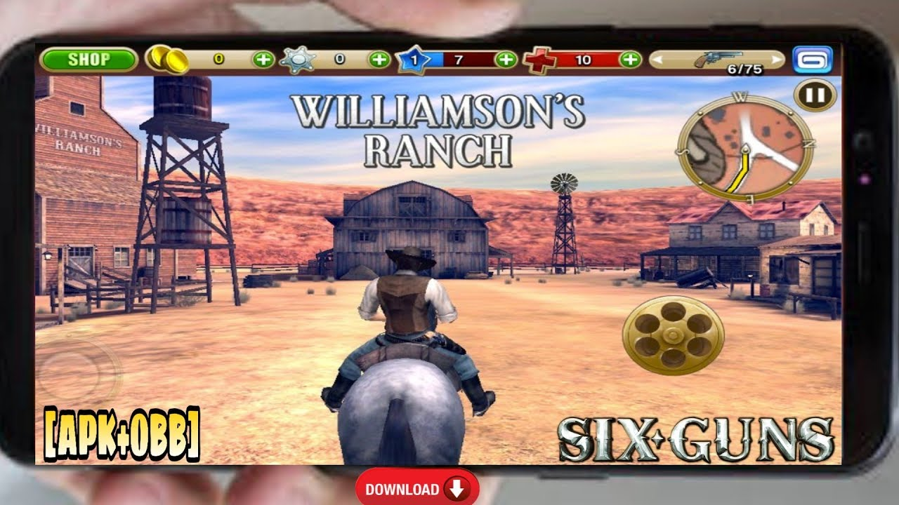 Six Guns Game For Android [ APK+OBB ] | Like Red Dead Redemption | 400MB  Only