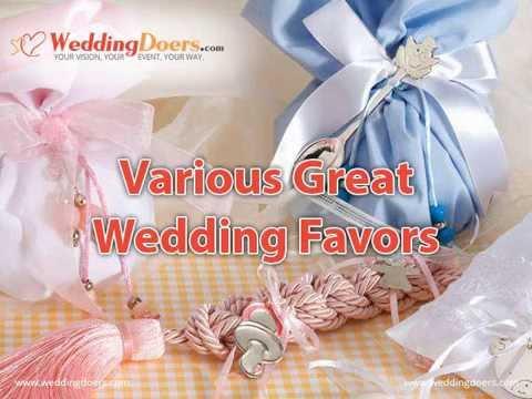 Various Great Wedding Favors