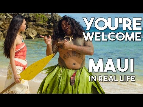 "Maui's You're Welcome from Disney's Moana/Vaiana | Official WWL ""In Real Life"" music video"