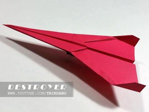 Cách gấp máy bay giấy cực dễ – Bay Xa | Kẻ Hủy Diệt