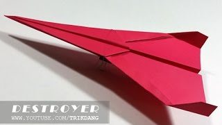 Cách gấp máy bay giấy cực dễ - Bay Xa | Kẻ Hủy Diệt