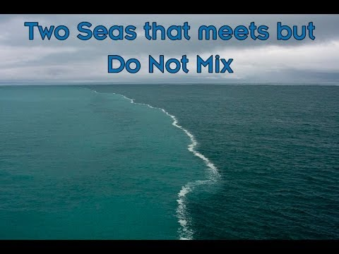2 oceans that meet and dont mix
