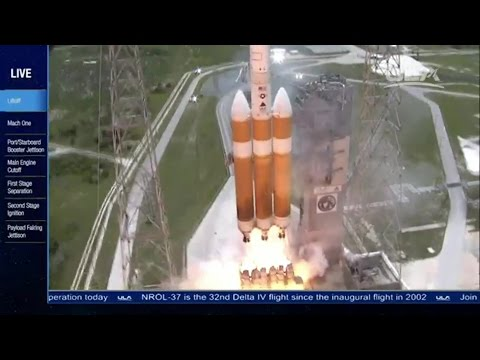 Download Youtube: Launch of Worlds Largest Rocket Delta IV Heavy with NROL-37