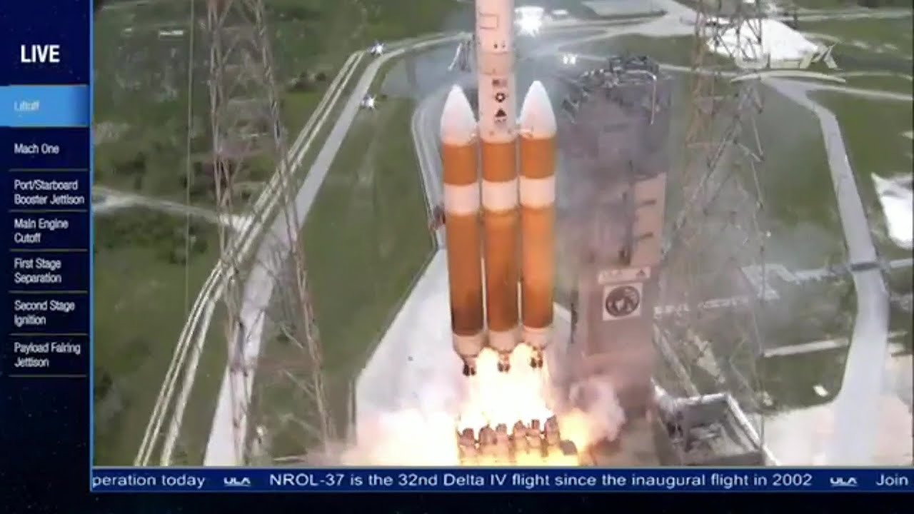Launch of Worlds Largest Rocket Delta IV Heavy with NROL ...