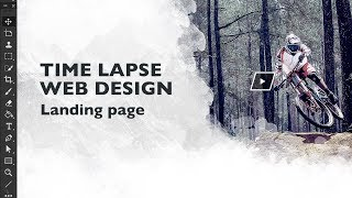 Web design. Time lapse design