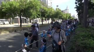 2014年 大阪 五條宮・夏まつり① 行列(神輿・小型だんじり)