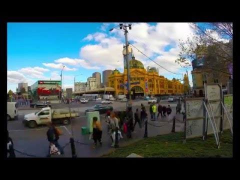 Time lapse - Finders Street Railway Station, Melbourne.