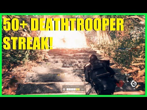 Star Wars Battlefront 2 - HUGE Jabba size Deathtrooper killstreak! | Deathtroopers are great!