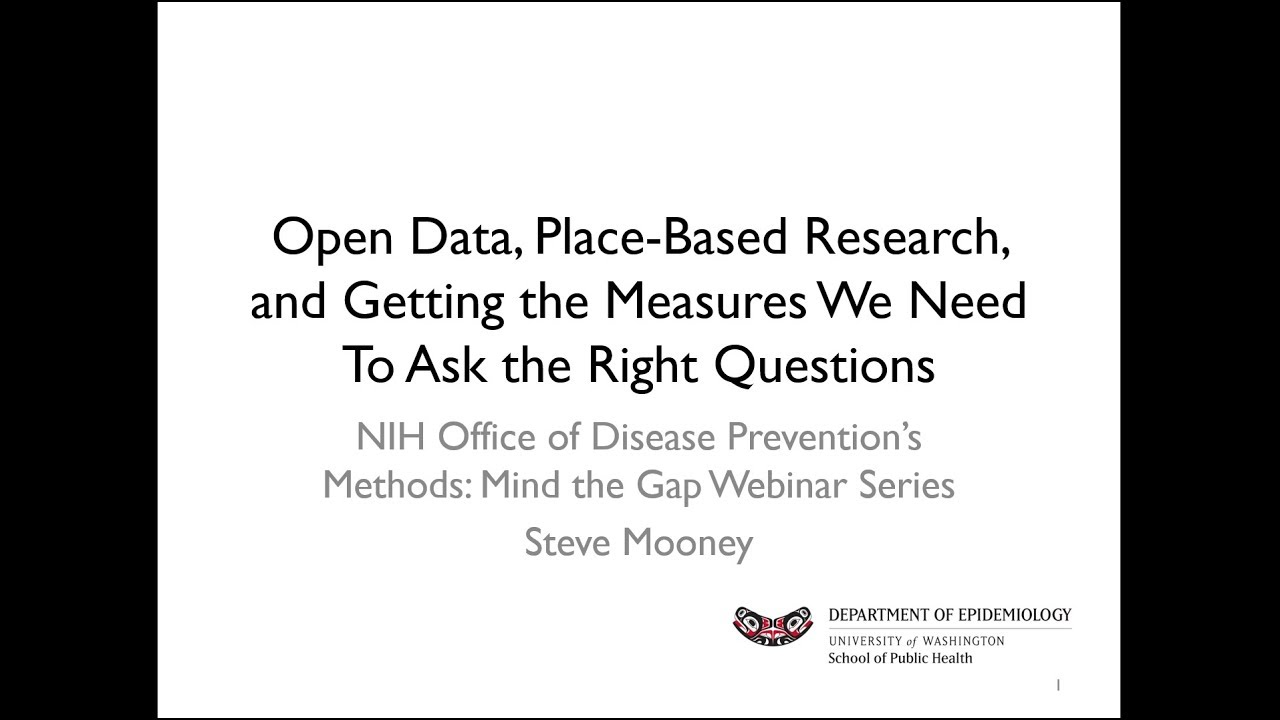 Open Data, Place-Based Research, and Getting the Measures We