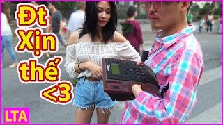 LTA - Cầm điện thoại bàn đi xin số gái | Pickup Girls with Corded Phone