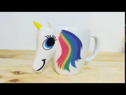Taza que Cambia de Color Unicornio - YouTube