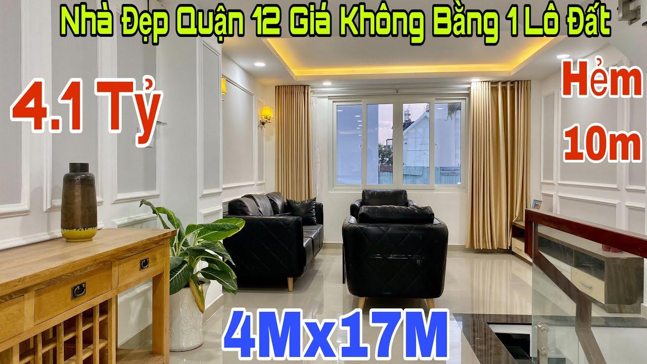 Bán nhà quận 12 TPHCM| Mở bán nhà đẹp 4x17m khu đồng bộ VIP 50 căn thuộc đường Hà Huy Giáp| giá rẻ